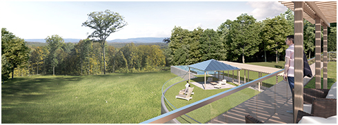 Photo of One of the 6 house sites with expansive views of the greenway.
